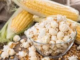 corn on the cob and popcors